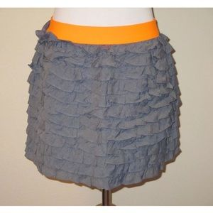J Crew Tiered BEACH CHAMBRAY LUCCA SKIRT